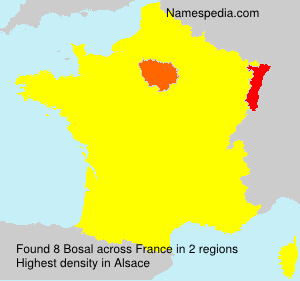 Surname Bosal in France