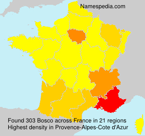 Surname Bosco in France