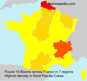 Surname Bosma in France