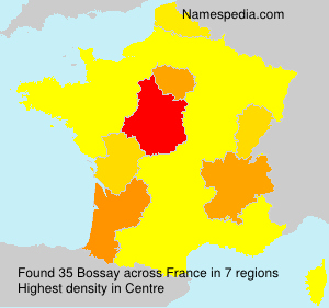 Surname Bossay in France