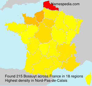 Surname Bossuyt in France