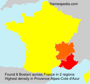 Surname Bostani in France
