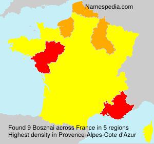Familiennamen Bosznai - France