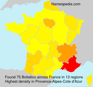 Surname Bottalico in France