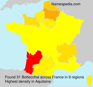 Familiennamen Bottecchia - France