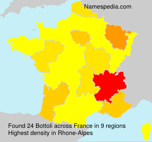 Surname Bottoli in France