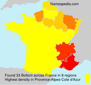 Familiennamen Bottoni - France