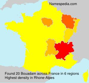Familiennamen Bouadam - France
