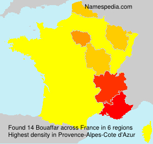 Surname Bouaffar in France