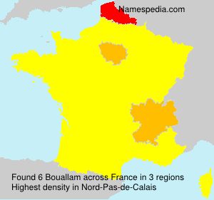 Surname Bouallam in France