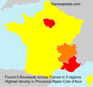 Surname Bouassab in France
