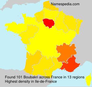 Surname Boubakri in France