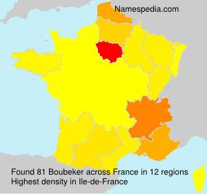 Surname Boubeker in France