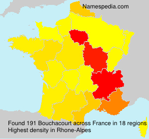 Surname Bouchacourt in France