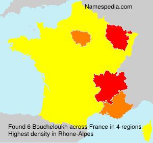 Surname Boucheloukh in France