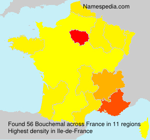 Surname Bouchemal in France