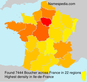Surname Boucher in France
