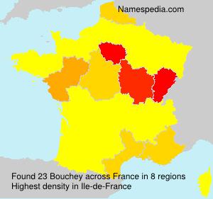 Familiennamen Bouchey - France