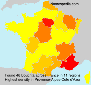 Surname Bouchta in France