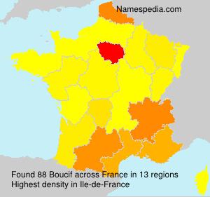 Familiennamen Boucif - France