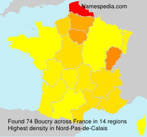 Surname Boucry in France