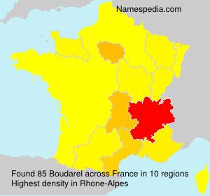 Familiennamen Boudarel - France