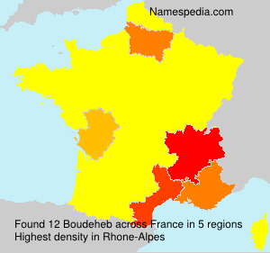 Surname Boudeheb in France