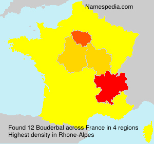 Surname Bouderbal in France