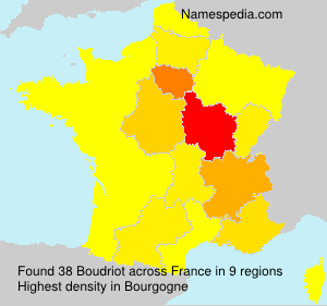 Surname Boudriot in France