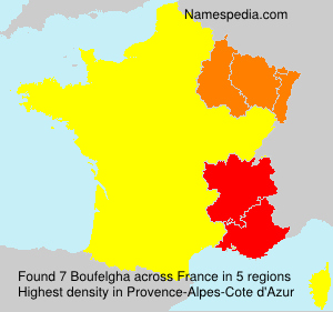 Surname Boufelgha in France