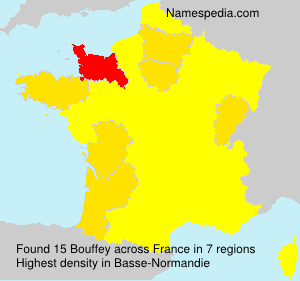 Surname Bouffey in France