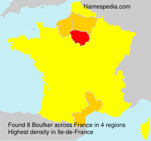 Surname Boufker in France