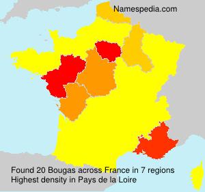 Familiennamen Bougas - France