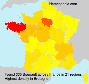 Surname Bougault in France