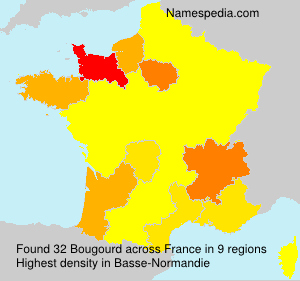 Surname Bougourd in France