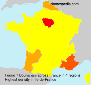 Surname Bouhanani in France