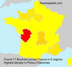 Surname Bouhard in France