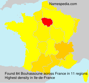 Surname Bouhassoune in France