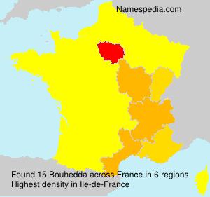 Surname Bouhedda in France