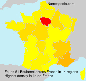 Surname Bouhenni in France