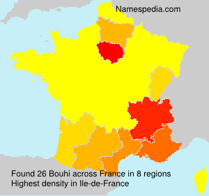 Surname Bouhi in France