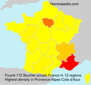 Surname Bouhlel in France