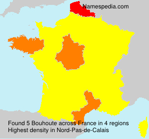 Surname Bouhoute in France