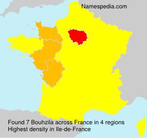Surname Bouhzila in France