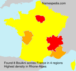 Surname Bouikni in France