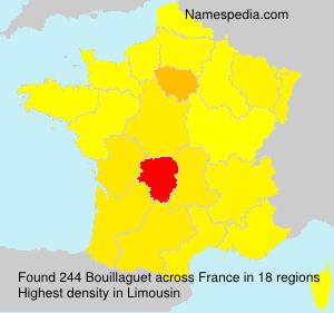 Familiennamen Bouillaguet - France