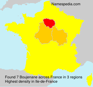 Surname Boujenane in France