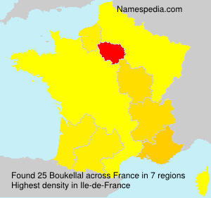 Surname Boukellal in France