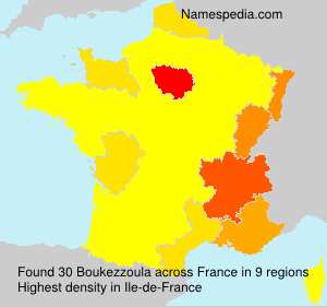 Surname Boukezzoula in France