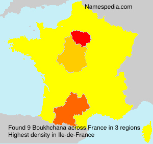 Surname Boukhchana in France